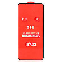 Защитное стекло 21D для Xiaomi Redmi Note 9 / Redmi 10X (Black)