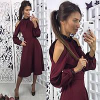Женское платье марсала, фото 1