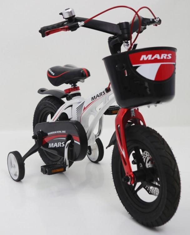 """Дитячий двоколісний велосипед 12 дюймів магнезиевая рама """"MARS-12"""" White"""