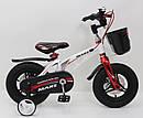 """Дитячий двоколісний велосипед 12 дюймів магнезиевая рама """"MARS-12"""" White, фото 4"""