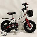 """Дитячий двоколісний велосипед 12 дюймів магнезиевая рама """"MARS-12"""" White, фото 5"""