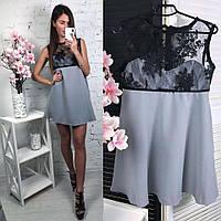 Сіра жіноча сукня, фото 1