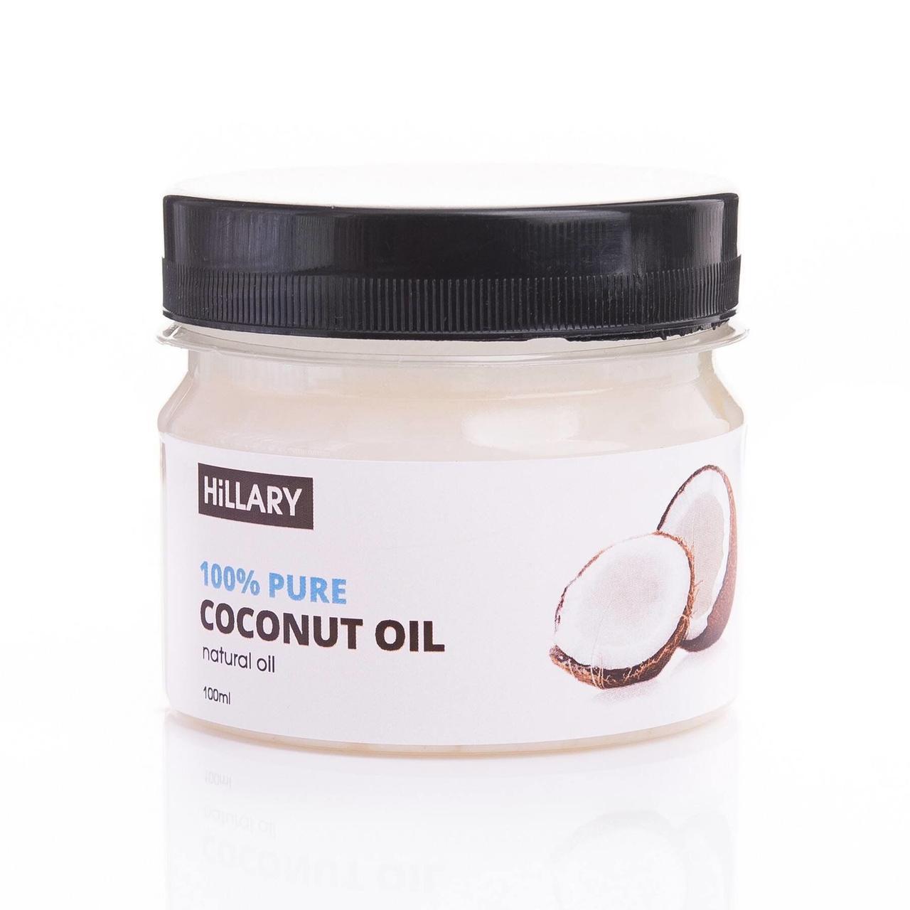 Кокосова Рафінована олія Hillary 100% Pure Coconut Oil, 100 мл