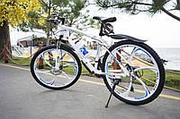 """Велосипед Galant 26"""" 17"""" на литих дисках Біло-синій"""