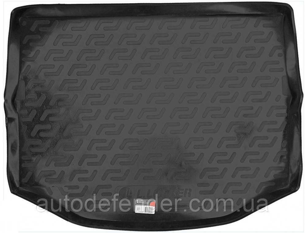 Килимок в багажник для Toyota RAV4 2013-, з повнорозмірним запасним колесом, резино/пластиковий (Lada Locker)
