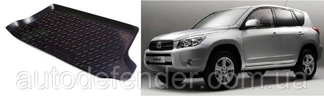Килимок в багажник для Toyota RAV4 2008-12, резино/пластиковий (Lada Locker)