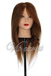 Учебная голова манекен кукла для причесок с натуральными волосами / болванка для парикмахера
