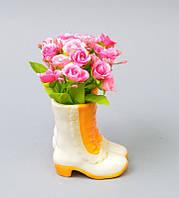 """Цветы в вазонах """"Розочки """"(сапоги) SU205"""