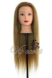 Учебная голова манекен для создания причесок / болванка для парикмахера с волосами / манекен для зачісок