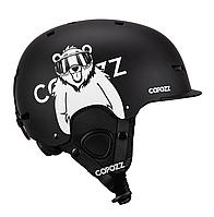 Гірськолижний / сноубордичний шолом COPOZZ з малюнком (BLACK BEAR) (М), фото 1