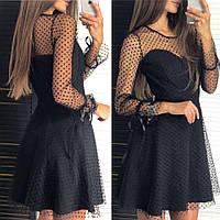 Жіноче чорне плаття, фото 1
