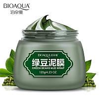 Грязевая маска для лица c зелеными бобами Мунг Bioaqua Green Beans Mud Wrap, 120г, фото 1