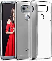 Прозрачный силиконовый чехол LG G6 противоударный