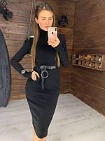 Черное женское платье, фото 1
