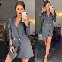 Платтье-пиджак графит, фото 1