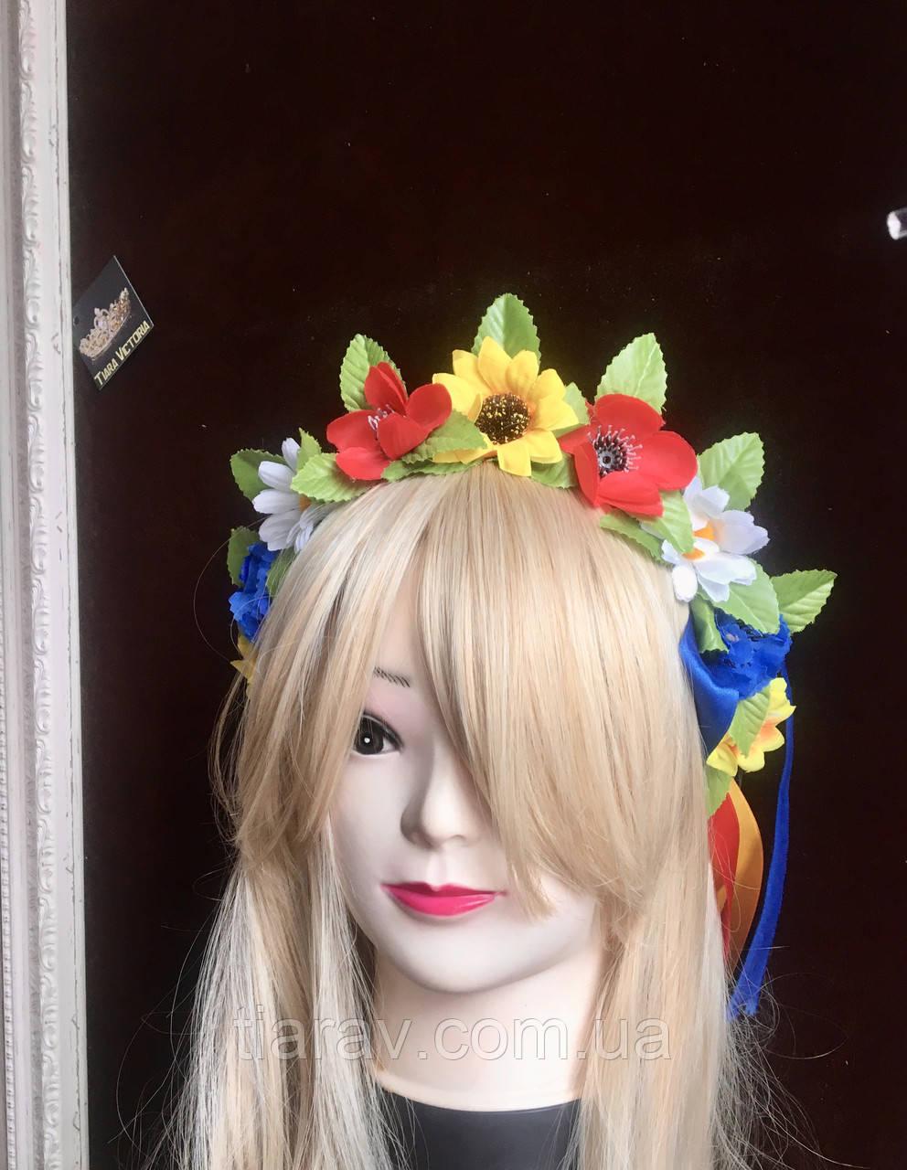 Вінок на голову український, віночок з квітів