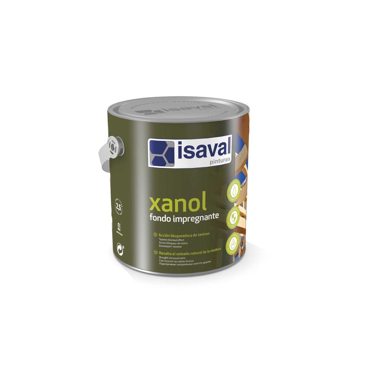 Грунтовка для защиты древесины от танинов Ксанол Фондо ISAVAL 0,75л≈9м²/слой