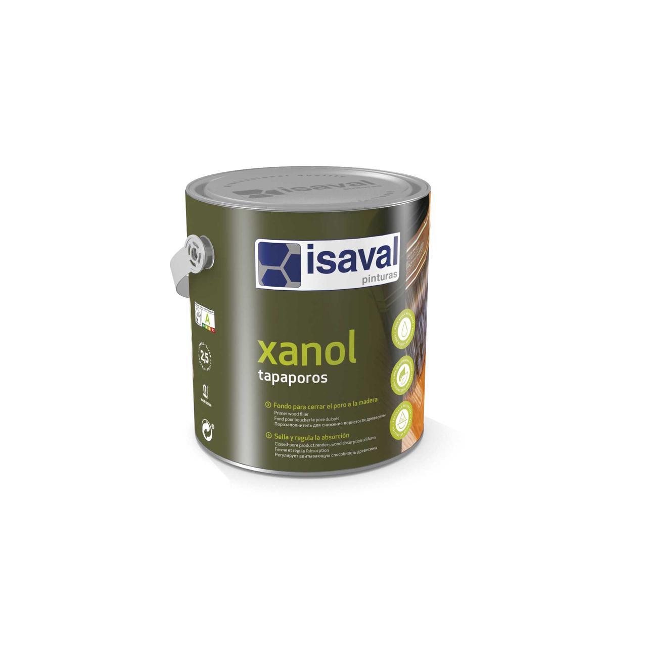 Поліуретановий ґрунт для деревини на водній основі Ксанол Тапапорос ISAVAL 0,75л≈8м²/шар
