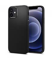 Черный силиконовый чехол Apple iPhone 12