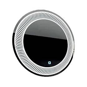 Дзеркало кругле з LED підсвічуванням SmartWorld Mavita 70x70x3 см КОД: 1033-d3-70x70