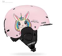 Гірськолижний / сноубордичний шолом COPOZZ з малюнком (PINK PONY) (S)