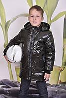 Подовжена куртка демісезонна «Футбол», хакі