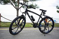 """Велосипед Galant 26"""" 17"""" на литих дисках Чорно-синій"""