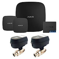 Комплект сигнализации Ajax + кран с электроприводом Honeywell 220 Duo, фото 1