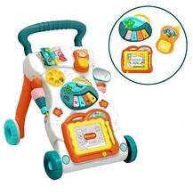 Каталка детская Baby Tilly, игровой центр ''Музичні кроки'' бирюзовый