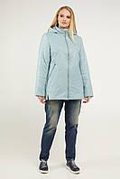 Модная куртка женская весна-осень прямая большого размеры 50-60