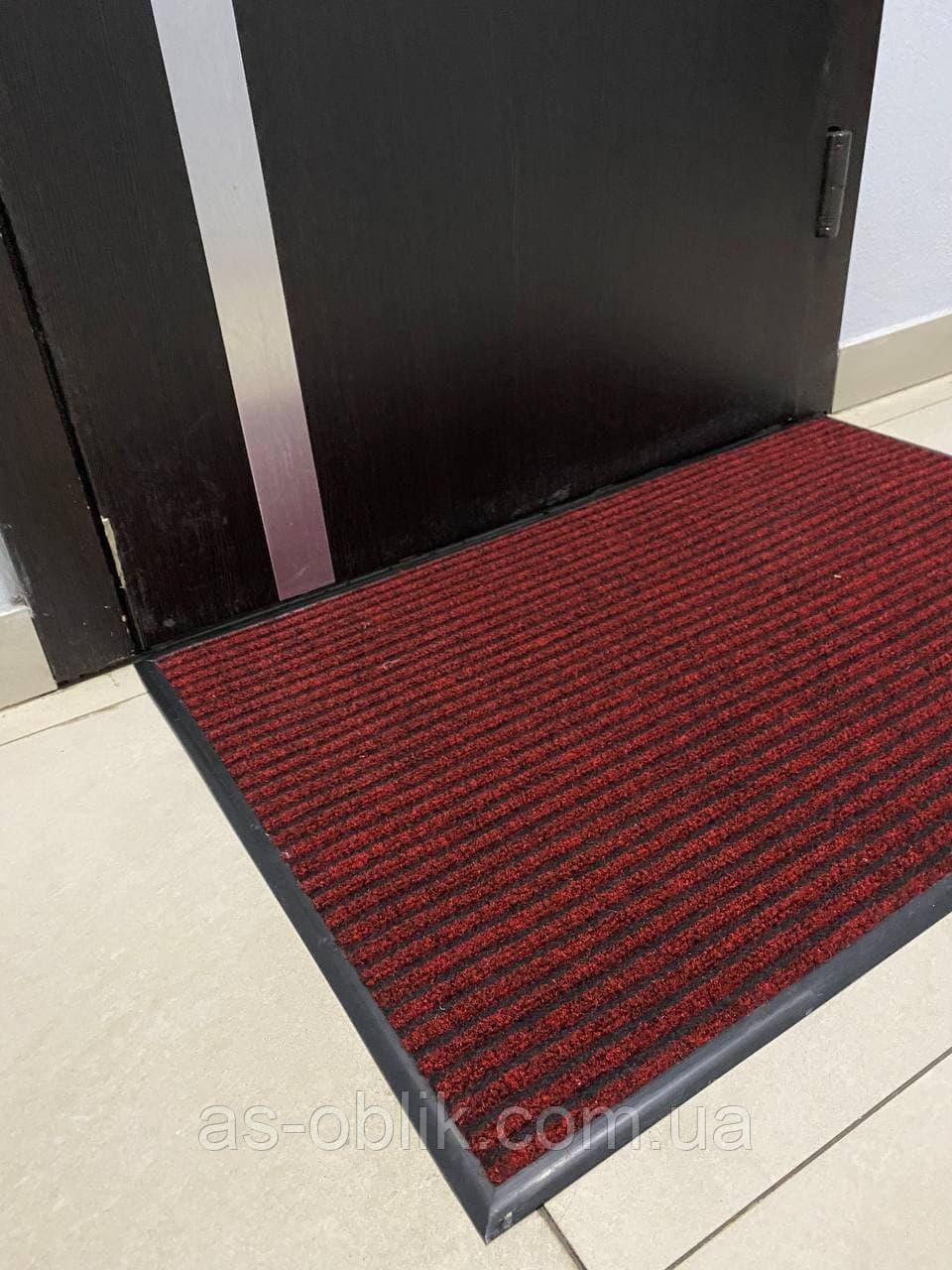 """Придверні килимок """"Форест"""" 1200х850 мм, червоний"""