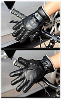 Очень теплые перчатки мужские черные код 103, фото 1