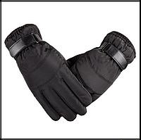 Перчатки непромокаемые, ветрозащитные, утепленные для сенсорных экранов черные код 107, фото 1
