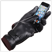 Рукавички теплі вітрозахисні сенсорні рукавички код 17 унісекс, фото 1