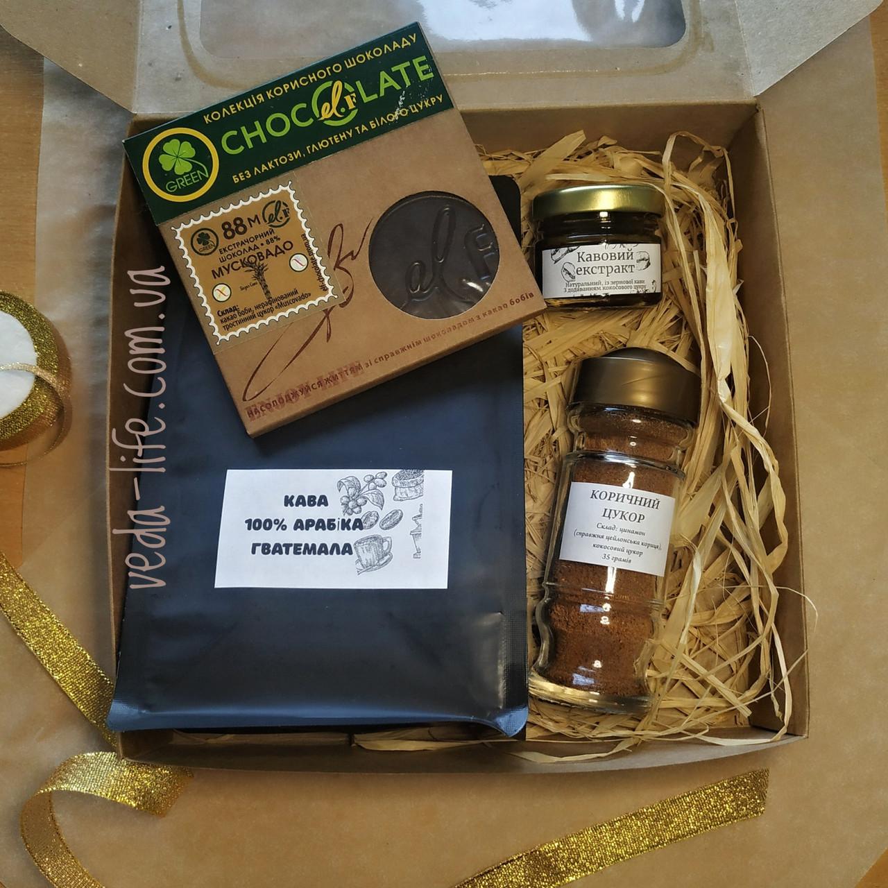 Кофейный набор Coffee-Love: кофе 100% Арабика, кофейный экстракт, специи для кофе, кофейное печенье/шоколад