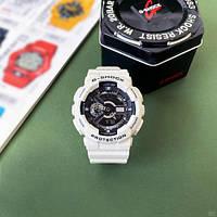 Часы наручные белые Casio G-Shock GA-110 White-Black New ( видеообзор ) / касио джишок белые
