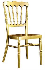 Стул Наполеон, пластиковый, с подушкой, цвет золотой