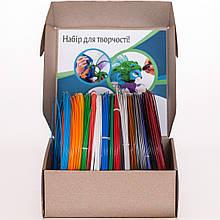 ABS пластик для 3D ручки 1.75 мм, 150 м (15 кольорів по 10 м)