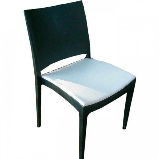 Стул Спектрум С, пластик, сиденье мягкое, кожзам, цвет черный