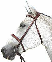 Уздечка кожаная, черная, коричневая, для лошади и мула