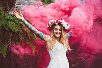 Кольорові димові шашки, Рожевий (малиновий) maxsem (середньої насиченості (дім12), кольоровий дим, 60 сек.