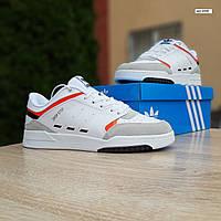 Мужские кроссовки Adidas DROP Step (белые) 10338 демисезонные низкие спортивные