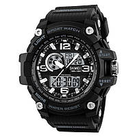 Skmei 1283 disel чорні чоловічі спортивні годинник, фото 1