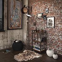 Стеллаж Tenero Брайтон 3-х полочный Черный КОД: 100000235
