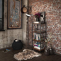 Стеллаж Tenero Брайтон 4-х полочный Черный КОД: 100000236