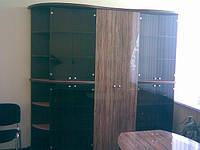 Шкаф с фасадами из глянцевого пластика .