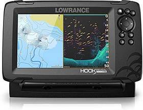 Ехолот-GPSплоттер LOWRANCE Hook REVEAL 7 з датчиком SPLITSHOT