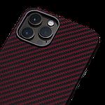 Pitaka MagEZ Twill Case кевларовий чохол для iPhone 12 Pro Black/Red, фото 3