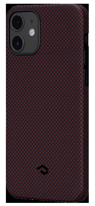 Pitaka MagEZ Plain Case кевларовий чохол для iPhone 12 mini Black/Red