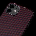 Pitaka MagEZ Plain Case кевларовий чохол для iPhone 12 mini Black/Red, фото 5